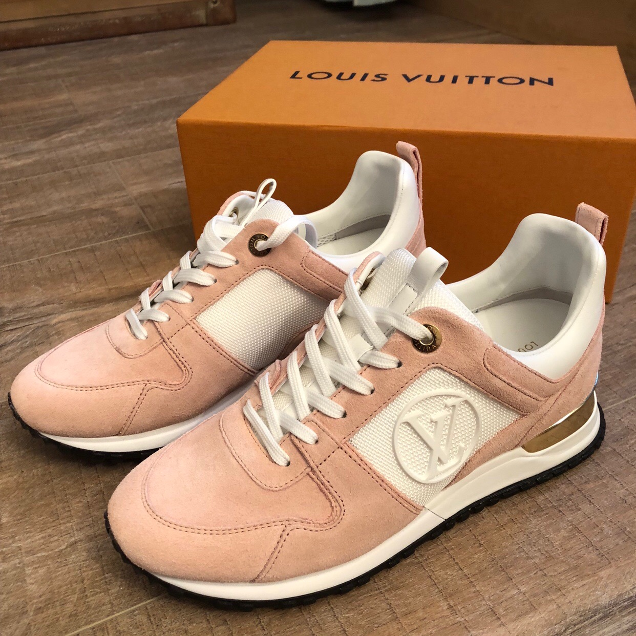 4e75c62324f7 Louis Vuitton Pink Suede Run Away Trainers - Lulu s Boutique
