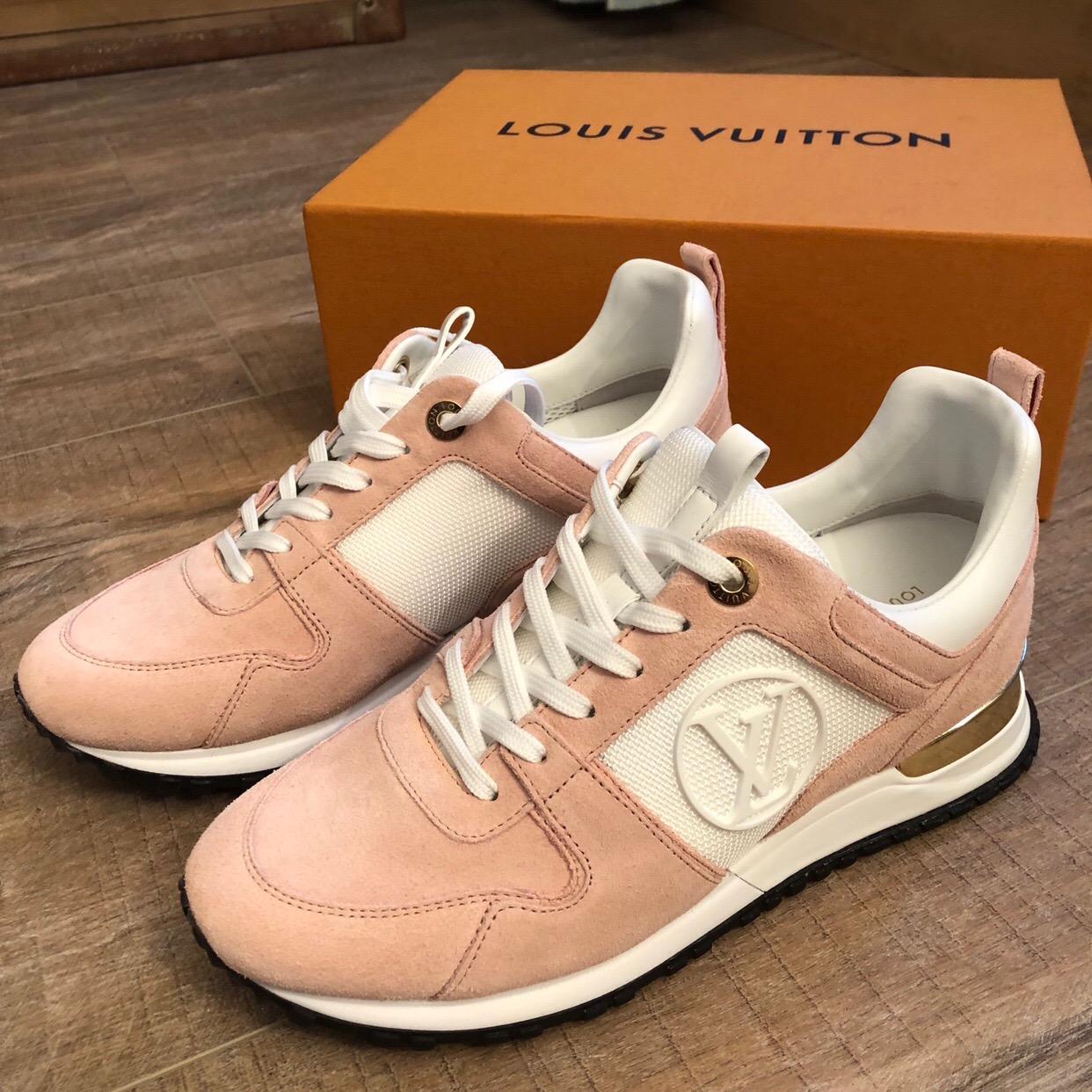 Louis Vuitton Pink Suede Run Away