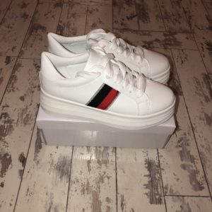 975334b3b88 White Gucci Inspired Chunky Sole Trainers